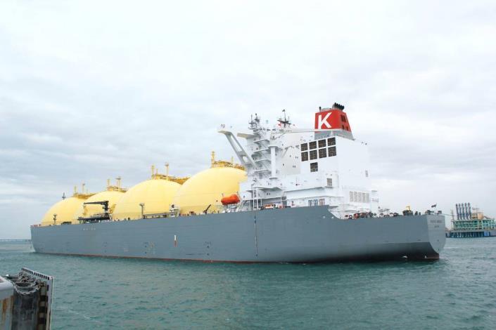 首艘澳洲Ichthys「PACIFIC BREEZE」液化天然氣船,由澳洲總理Mr. Scott Morrison及日本首相安倍晉三在澳洲達爾文港鳴笛啟航,由台灣中油戴謙董事長於今日在永安港迎接