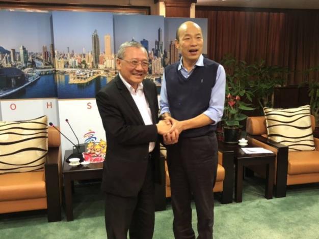 台灣中油董事長戴謙拜會高雄市長韓國瑜 雙方決議成立溝通平台
