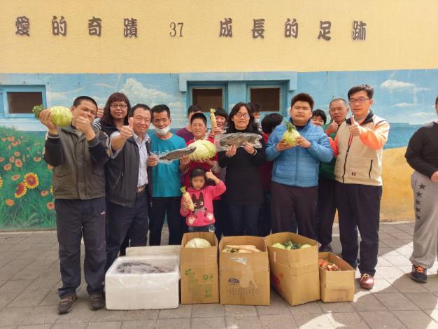 台灣中油公司購買澎湖當農產品捐贈給當地社福團體。