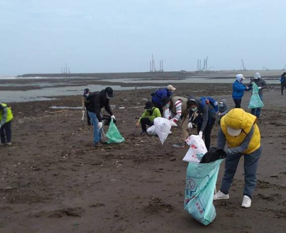 台灣中油舉辦2020「向海致敬、潔淨觀塘」淨灘活動
