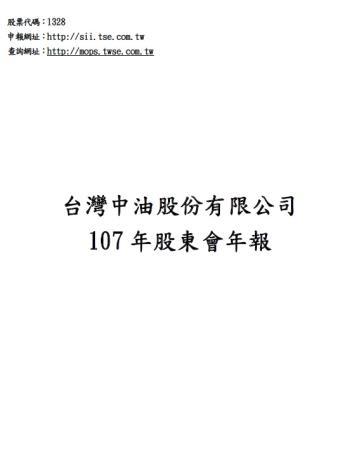 107年度中油股東會年報