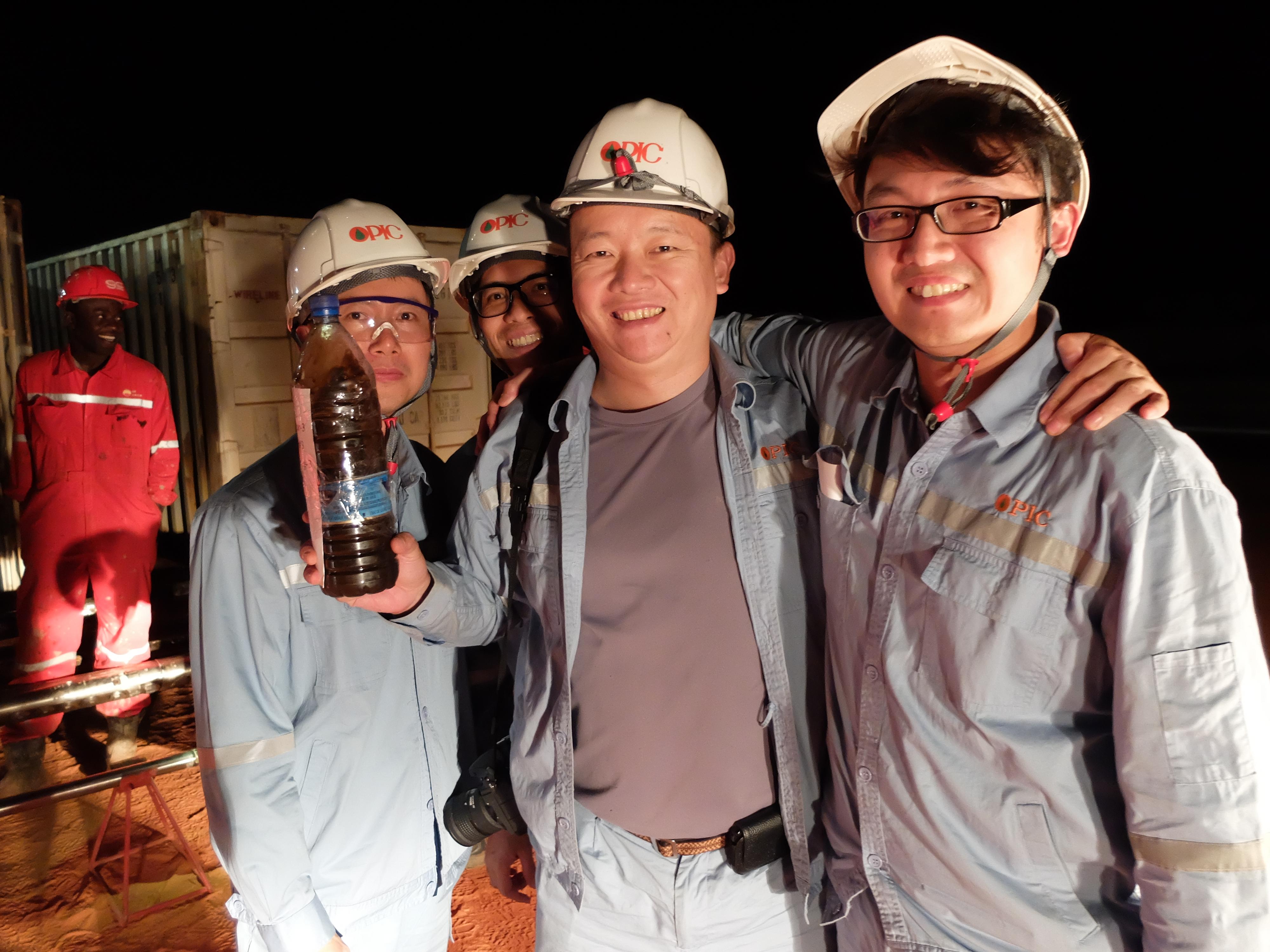 前進非洲,中油的第一桶油