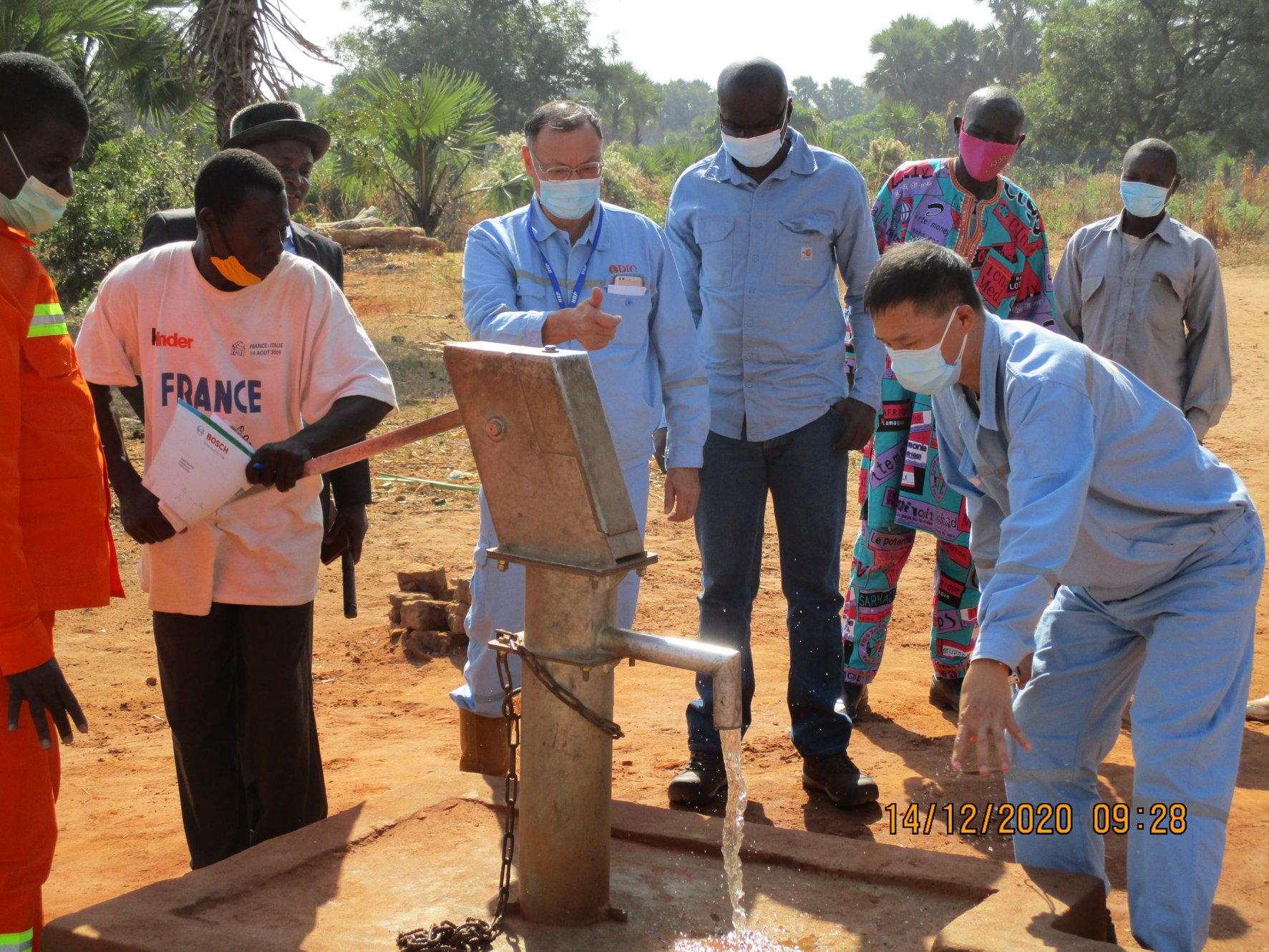 台灣中油響應查德推動企業辦理建置學校教室、捐贈水井計畫