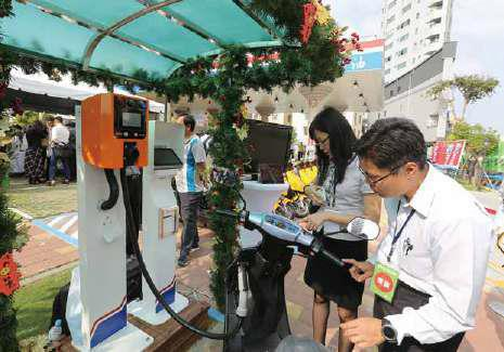 CPC's smart green gas station project advances: its Tainan city site showcases multiple power supply and storage systems.