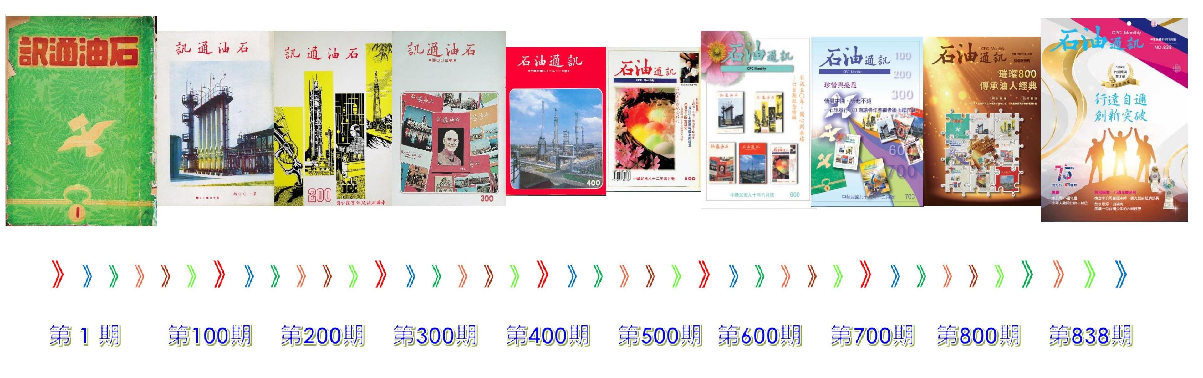 台灣中油石油通訊數位典藏百期精選沿革視覺效果圖片